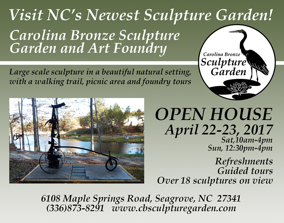 carolina bronze sculpture gardenopen house