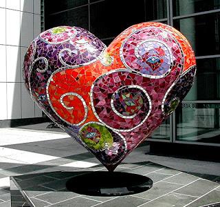 Laurel True heart sculpture